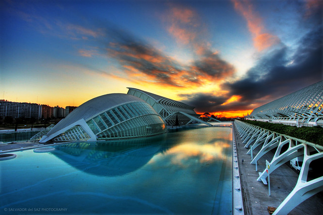 City of Arts and Sciences at dawn