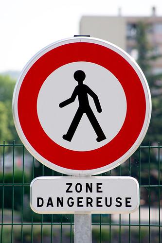 Panneau Zone dangereuse