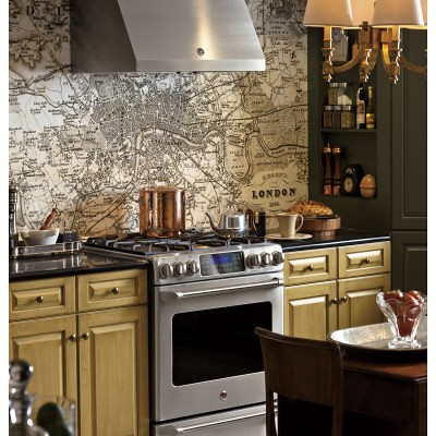 Slate Appliances In Natural Kitchen
