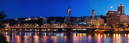 Hawthorne bridge night | by ebaetscher