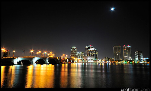 Overlooking Royal Palm Bridge and downtown West Palm Beach