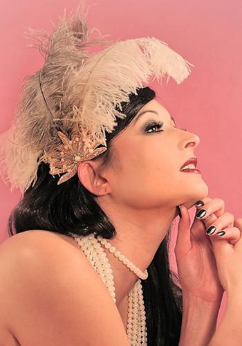 1ded12df7fb ... Burlesque Fascinator Pin