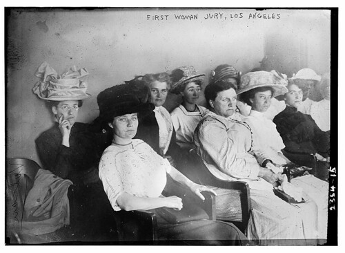First woman jury, Los Angeles  (LOC)