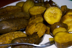 cooking plantain(0.0), pickling(0.0), plant(0.0), cucurbita(0.0), vegetable(1.0), pickled cucumber(1.0), tursu(1.0), produce(1.0), food preservation(1.0), food(1.0), dish(1.0), cuisine(1.0),