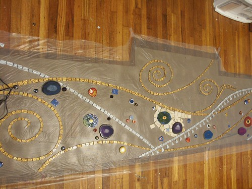 Klimt mosaic process background