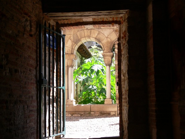 The Cloister Of Saint Salvy, Albi, Tarn, France - Classified in 2010 by UNESCO, as world heritage.