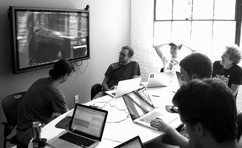 Team meeting on the MapBox Appliance design