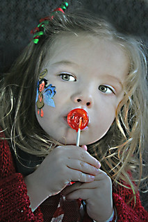 Face Paint & a Lollipop