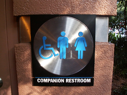 G-Force records restroom - Companion Restroom Sign