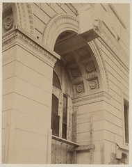 Soffit of a Dartmouth Street entrance arch, construction of the McKim Building