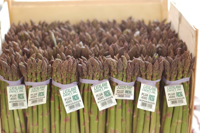 Purple topped asparagus