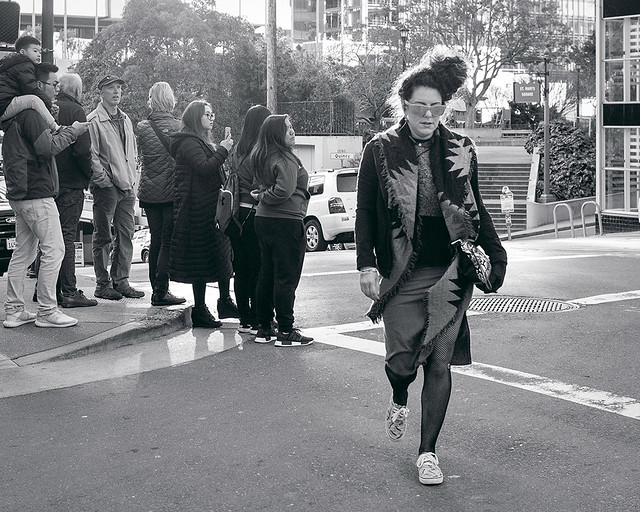 Crossing the street in style