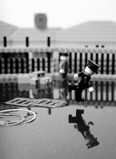 Behind the Gare Saint-Lazare in LEGO