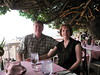 Huguette and I at Kaimana Beach Hotel patio dining area by Yvon from Ottawa