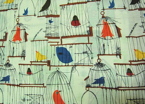caged bird fabric