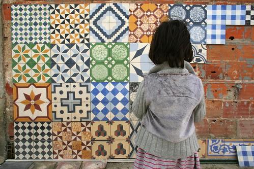 Mosaico hidr ulico a ervilha cor de rosa for Azulejos de suelo baratos