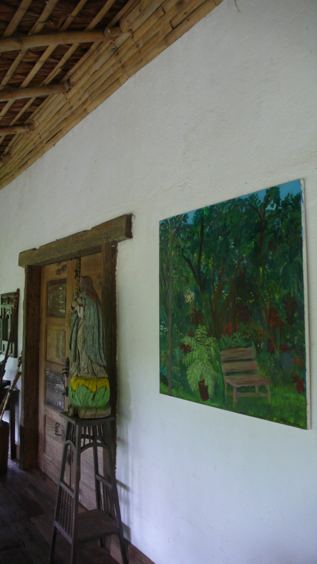 One of her paintings