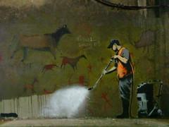 Cleaning Stoneage Graffiti