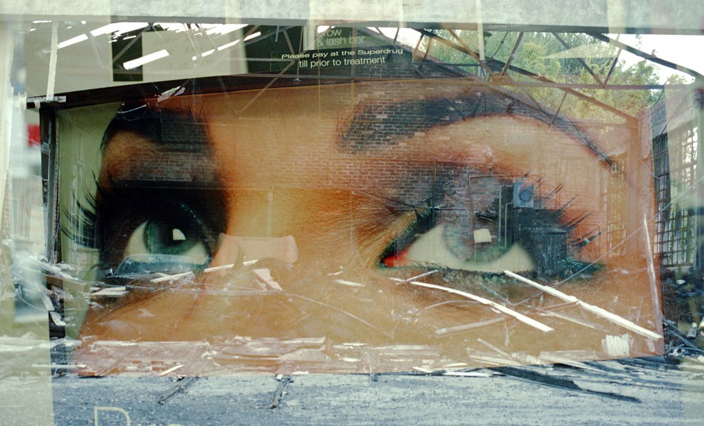 Eyes double exposure