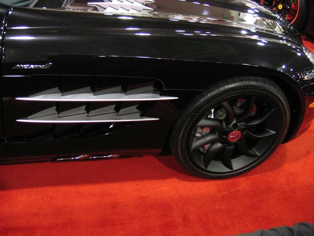 Perfect Satin Matte Black Genuine AMG Mercedes Benz McLaren SLR Wheels Tires