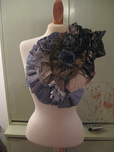 trashion tie dress (in progress) 10