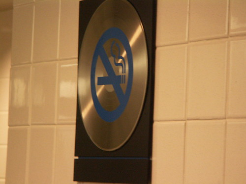 G-Force records restroom - No smoking Sign
