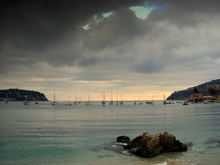 Image of  Plage des Marinières  near  Villefranche-sur-Mer. france nice côte plage villefranche azur rade