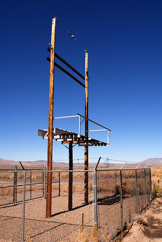 fence site power empty nevada installation barbedwire unused electicity us93 oneilroad ut2006oct
