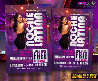 Latin Night - Noche Latina Club Party Flyer Template