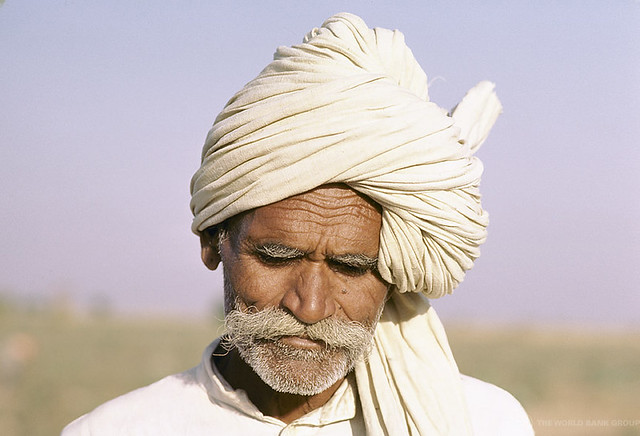 by World Bank Photo Collection Portrait man with traditional hat. India.  0f71641d5