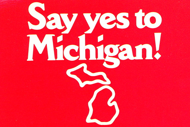 Say Yes to Michigan Campaign Postcard