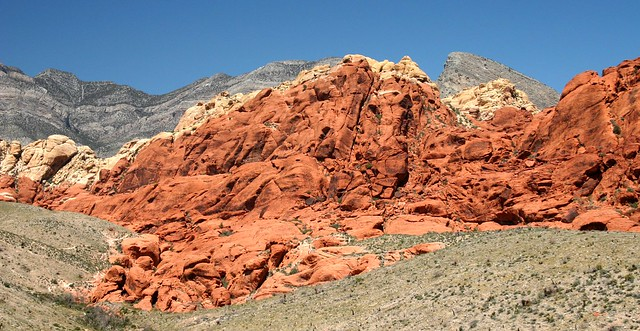 Close up of the Calico Hills in Red Rock Canyon, near Las Vegas