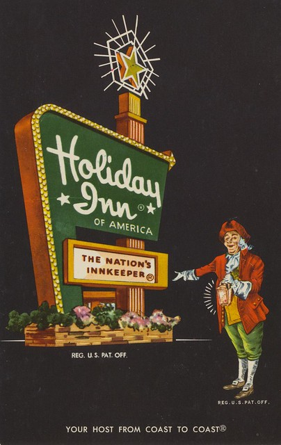 Holiday Inn postcard - 2208 Highway 71, Columbus, Texas U.S.A. - date unknown
