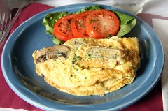 fried food(0.0), frittata(0.0), fish(0.0), vegetarian food(0.0), produce(0.0), scrambled eggs(0.0), meal(1.0), breakfast(1.0), vegetable(1.0), food(1.0), dish(1.0), cuisine(1.0), omelette(1.0),
