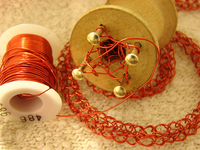 Spool Knitting With Wire : Spool knitting with copper wire flickr photo sharing