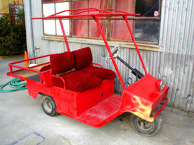 Red    Cushman       1972    Electric    Golf       Cart    3   Flickr  Photo Sharing