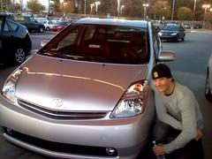 automobile, automotive exterior, toyota, vehicle, compact car, bumper, toyota prius, land vehicle,