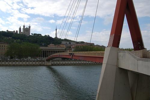 Passerelle du Palais de Justice Over la Saone in Lyon