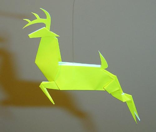 of one of origami deer.