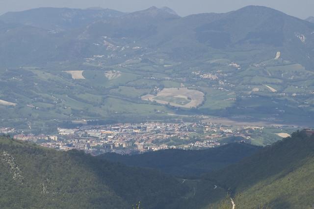 Monte Puro: vista di Fabriano