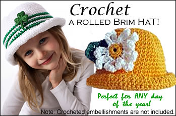 Free Crochet Pattern - Simply Boy Rolled Brim Hat