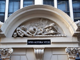 Image of Sint Olofskapel. amsterdam skulls skeleton mementomori spesalteravitae sintolofskapel