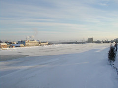 Aass Brewery in winter