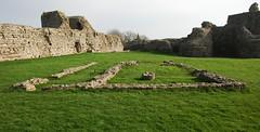 Pevensey Castle - Chapel remains