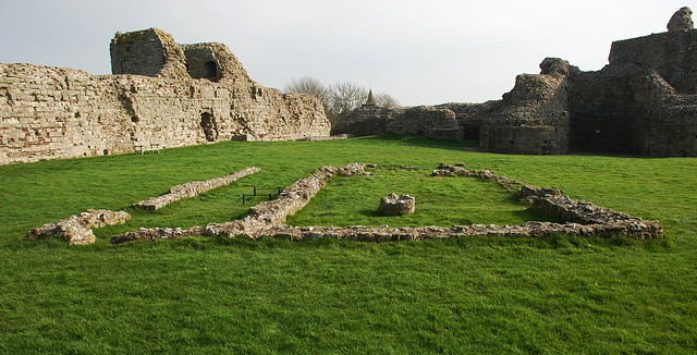Pevensey Castle - Chapel remains