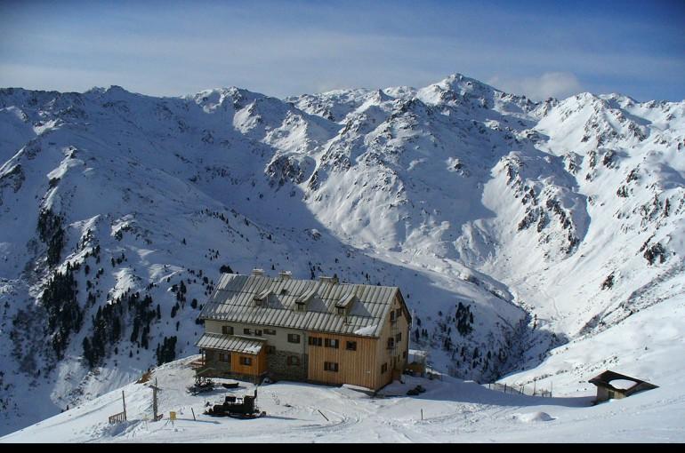 Rastkogelhütte - skialp na pohodu v Tuxer Alpen