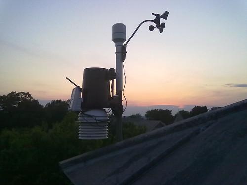 記錄降雨量、氣溫、風速與風向的氣候觀測站。(圖:Ladd Observatory)