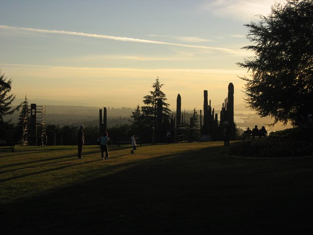 Burnaby Mountain with Vancouver Skyline in the Distance