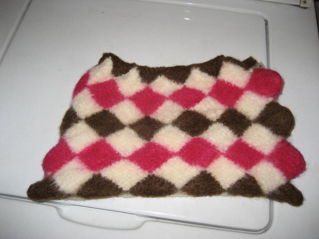 felted entrelac purse