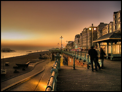 Sunset Seafront, Brighton February 18 by BoblyP
